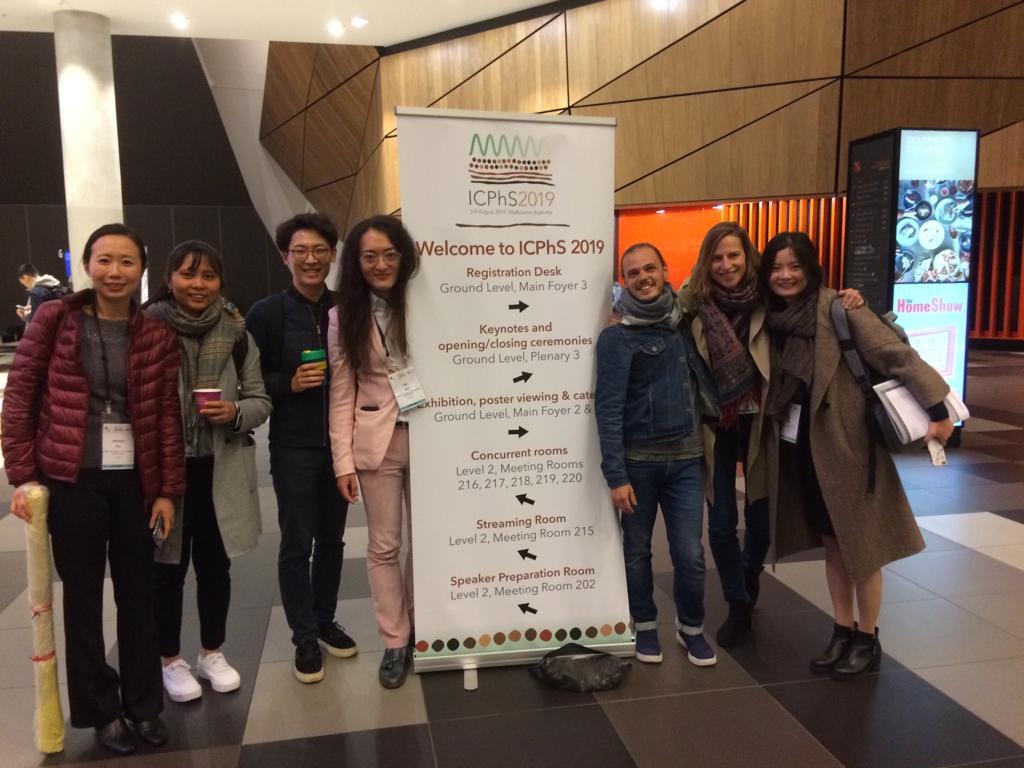 Les membres du LPP à l'ICPhs 2019 en Australie
